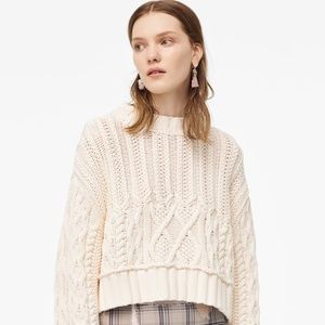ZARA LIMITED EDITION CABLE KNIT SWEATER NWT